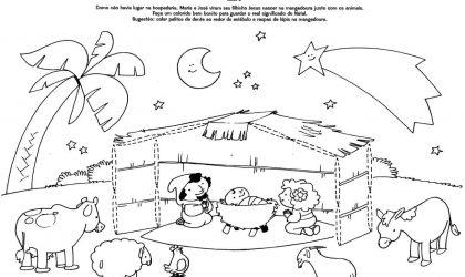 Desenhos para colorir com tema Natal