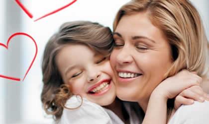Lição infantil Ensinar as crianças a honrar as suas mães